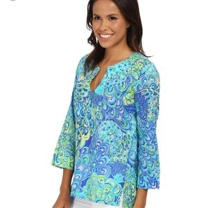 Lilly Pulitzer Tops - Lilly Pulitzer Amelia Island Tunic blue